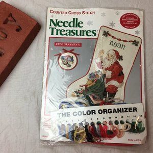 Needle Treasures HEIGH HO SANTA Cross Stich Kit